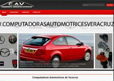 Imagen del diseño de pagina web para computadoras automotrices de veracruz diseñado por JuCri - WebDesig Mexico