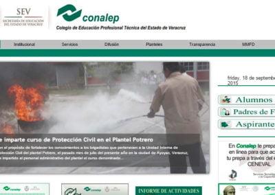 Imagen del sitio web Conalep de Xalapa, Veracruz - JuCri WebDesign Mexico