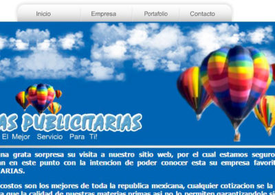 Imagen del sitio web de Publicidad Inflable Xalapa, Veracruz - JuCri WebDesign Mexico