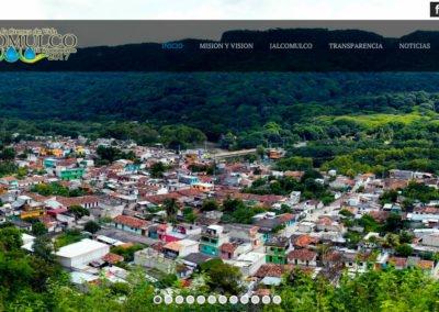 Imagen de sitio web del municipio de Jalcomulco, Veracruz - JuCri WebDesign Mexico